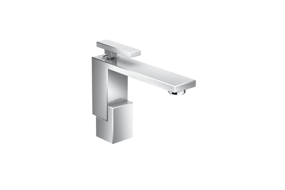 Axor Edge Einhebel-Waschtischmischer 130 mit Push-Open Ablaufgarnitur
