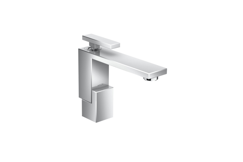 Axor Edge Single lever basin mixer 130 with push-open waste set