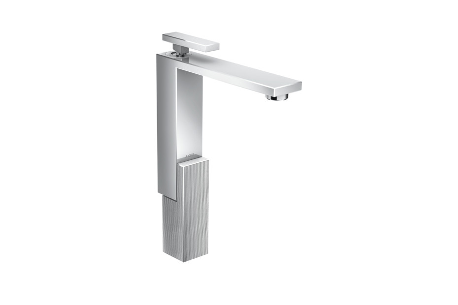Axor Edge Single lever basin mixer 280 with push-open waste set - diamond cut