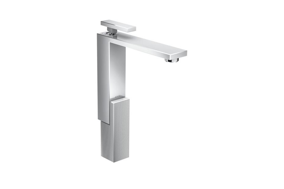 Axor Edge Einhebel-Waschtischmischer 280 mit Push-Open Ablaufgarnitur - Diamantschliff