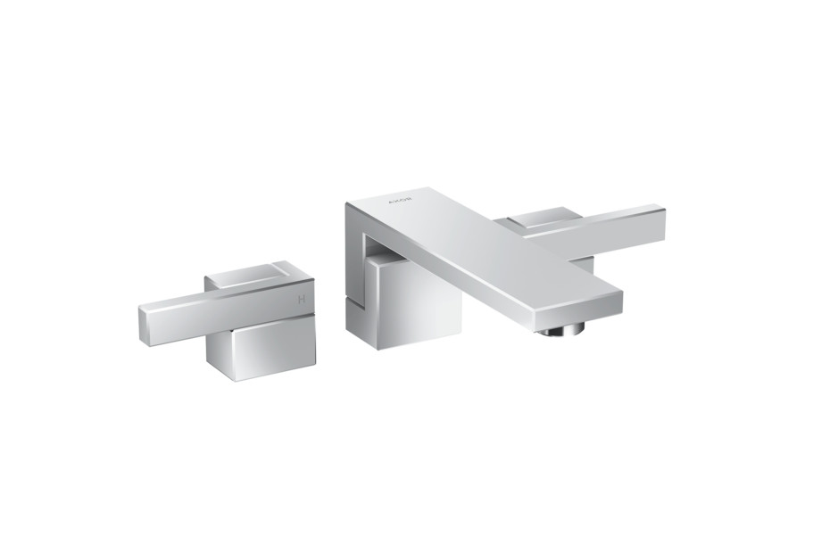 Axor Edge 3-hole basin mixer for concealed installation wall-mounted - diamond cut
