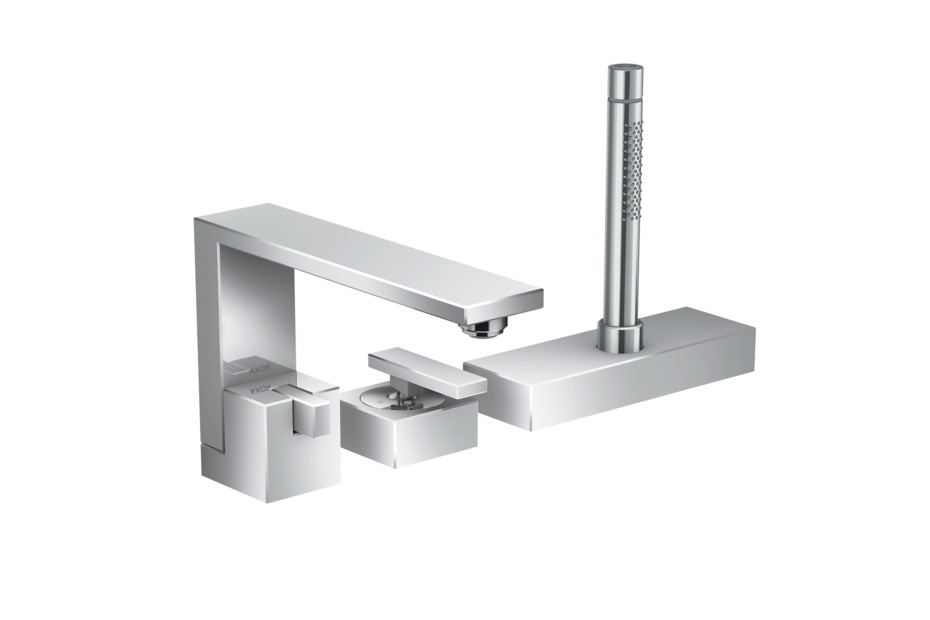 Axor Edge 3-hole rim mounted single lever bath mixer