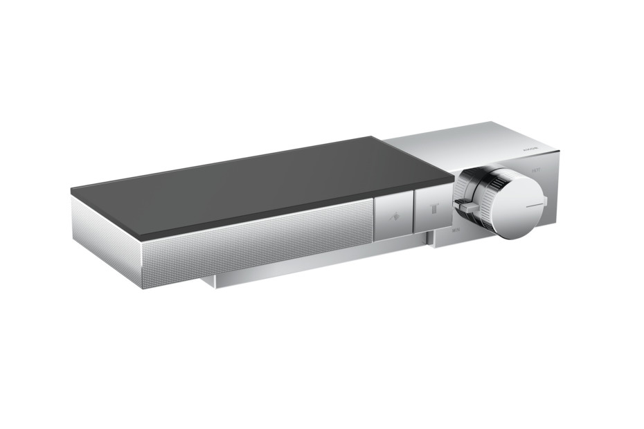 Axor Edge Thermostat for 2 functions for exposed/concealed installation - diamond cut