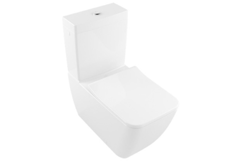 Washdown WC for close-coupled WC-suite rimless Venticello