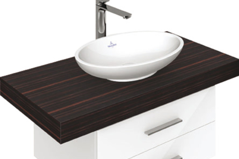 surface mounted washbasin oval loop friends by villeroy boch bath wellness stylepark. Black Bedroom Furniture Sets. Home Design Ideas