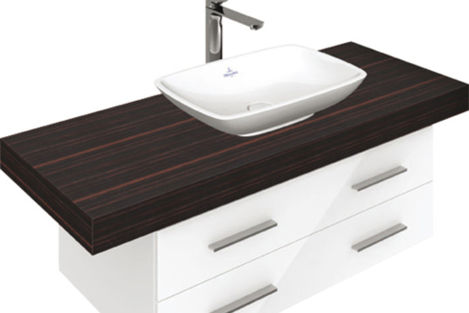 Surface-mounted washbasin rectangular Loop & Friends