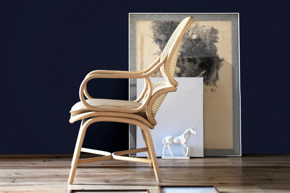 Frames Sessel, Fussgestell in Rattan T050 R