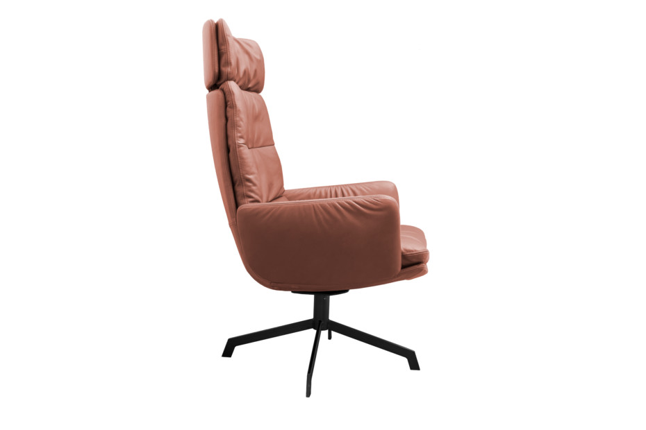 Arva Lounge armchair with 4-star base
