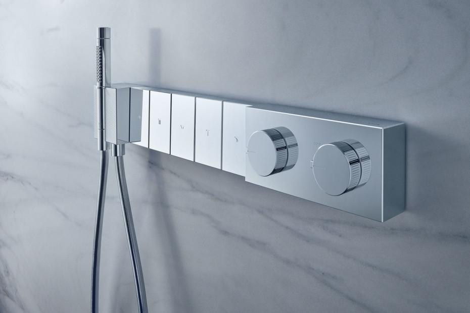 Axor Edge Thermostatmodul Select 680/100 für 5 Verbraucher Unterputz - Diamantschliff
