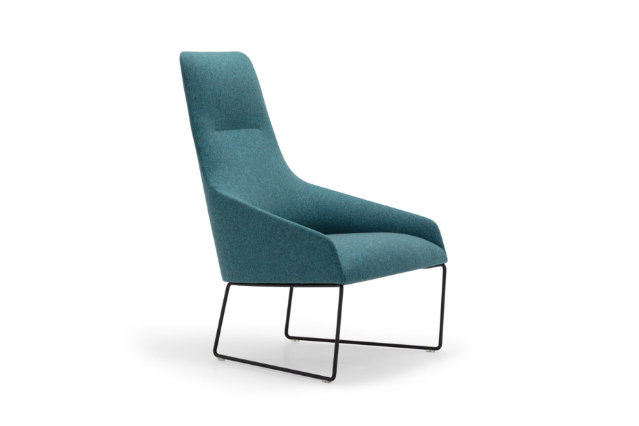 Alya lounge chair with steel base