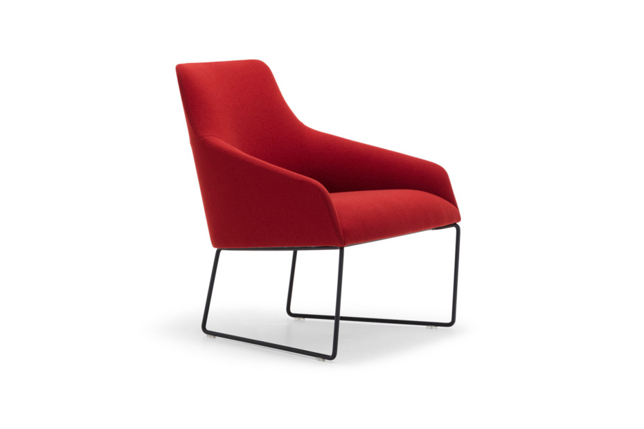 Alya lounge chair with steel base low back