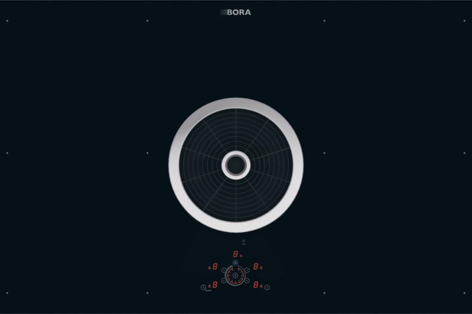 BORA Basic Flächeninduktions-Glaskeramik-Kochfeld mit integriertem Kochfeldabzug - Abluft