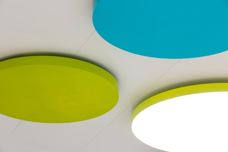 Ceiling and light combination TOMEO-R®