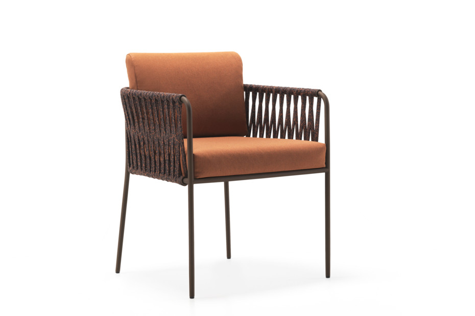Nido hand-woven dining armchair C258T