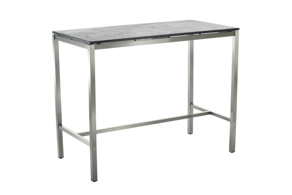 Classic stainless steel bar table