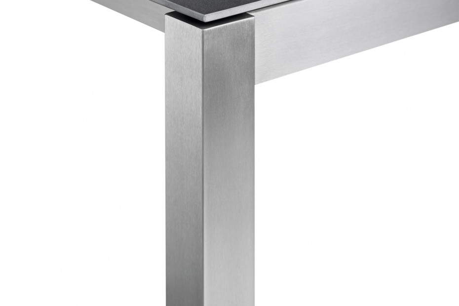 Classic stainless steel dining table