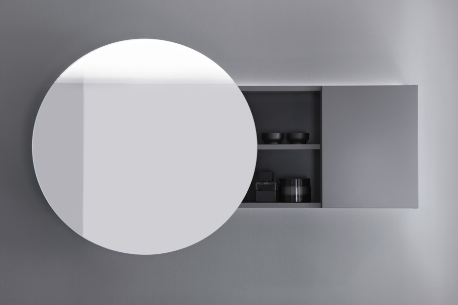 Coco mirror cabinet with indirect LED-light and selection: cold/warm white