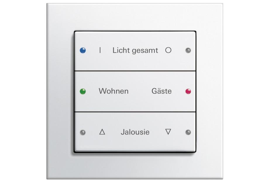 E2 push button sensor 3, 3-gang