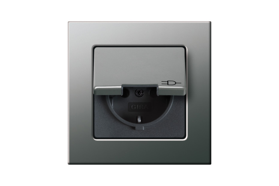 E22 socket with hinged cover