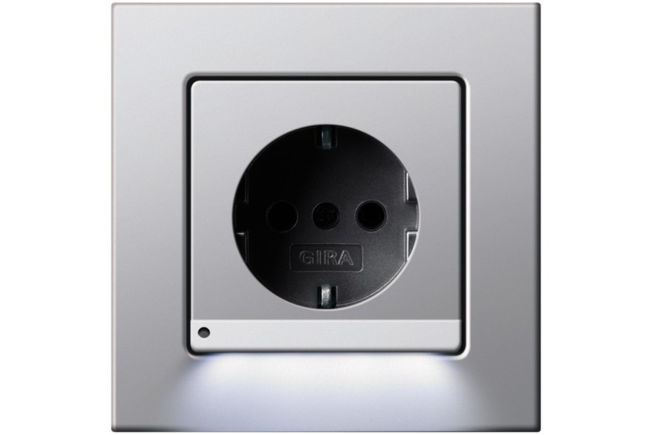 E22 socket with orientation light