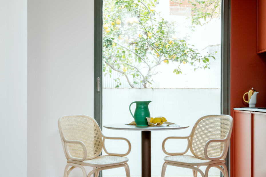 Frames Dining armchair with rattan legs T041 R