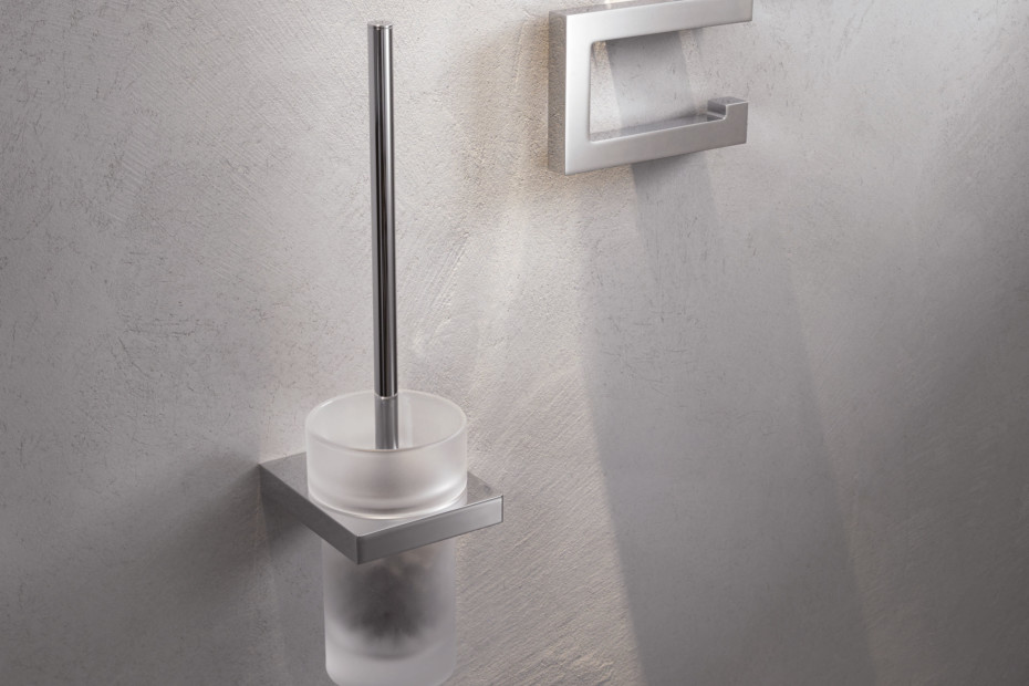 WC-Bürstengarnitur verchromt