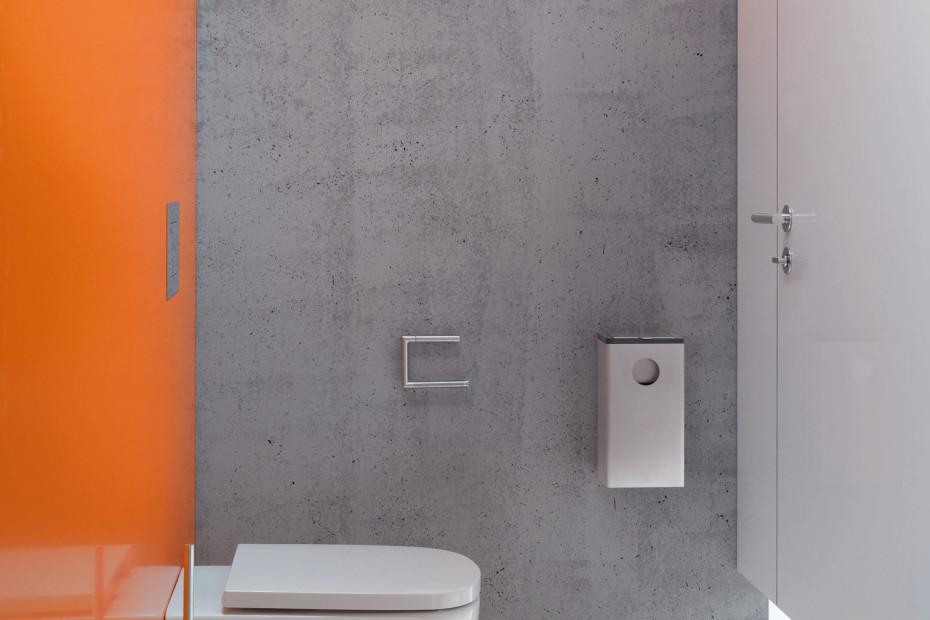 Toilet brush unit finish - chrome