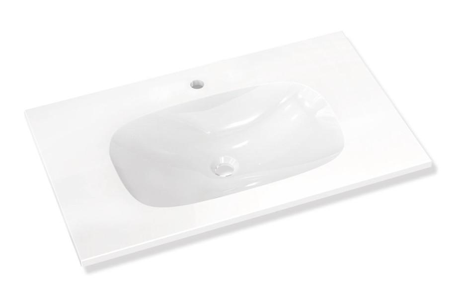 Waschtisch für Einlocharmatur vorgerichtet