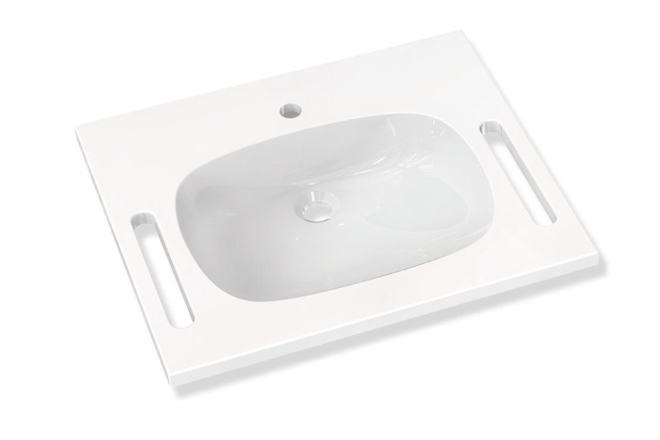 Washbasin prepared for single hole mixer tap