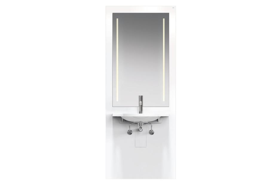 Waschtisch-Modul Weiß, Waschtisch 950.11.121, LED-Lichtspiegel