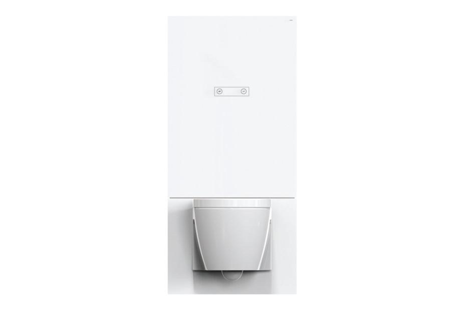 WC-Modul Weiß, manuelle Betätigungsplatte