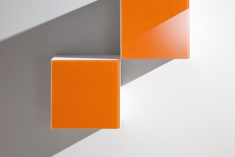 Basis-Modul 30 Glasfront weiß