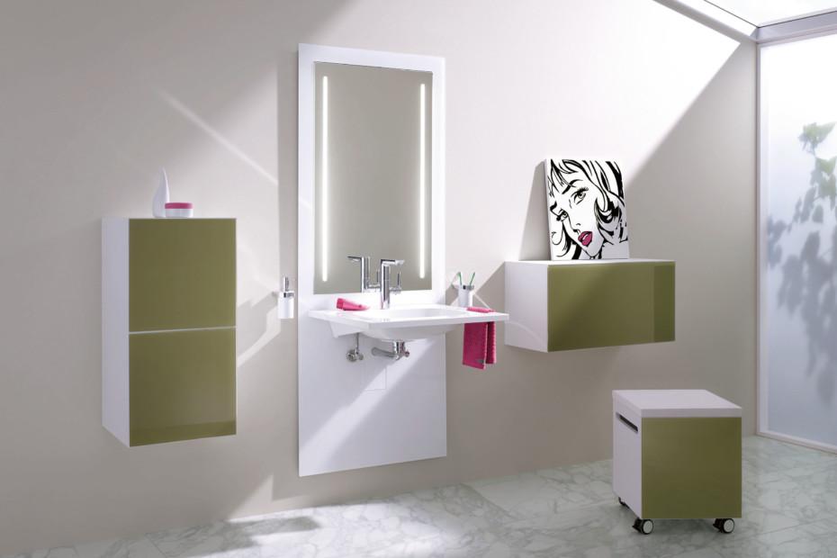 Sitz-Modul Glasfront aqua