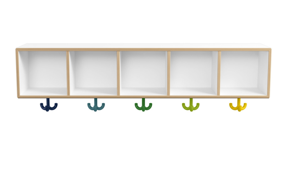 Row module, 5 places with triple hooks