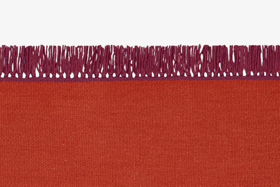 Kelim Cross Coloured Fringes