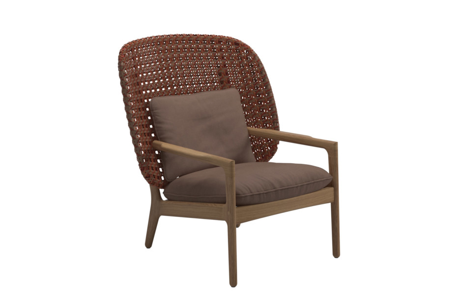 Kay high back lounge chair