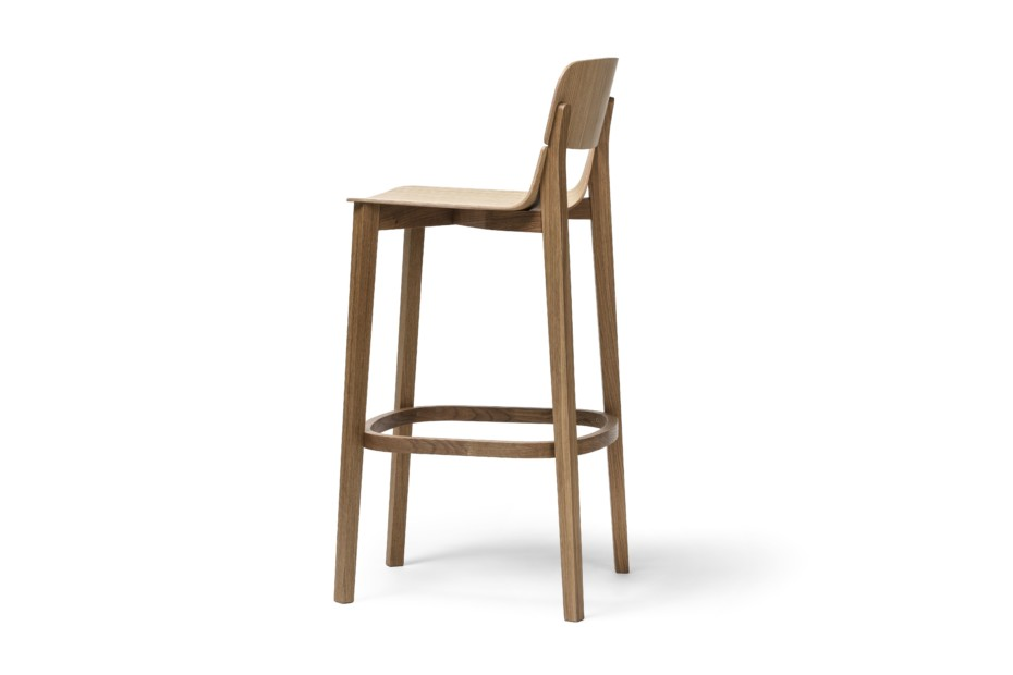 Leaf bar stool with back rest