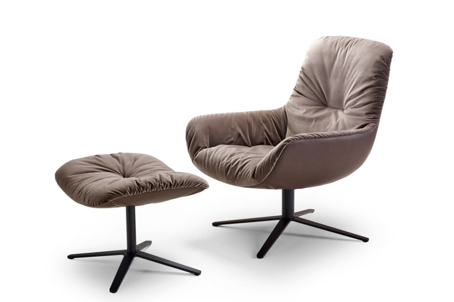 Leya lounge chair with x-base frame