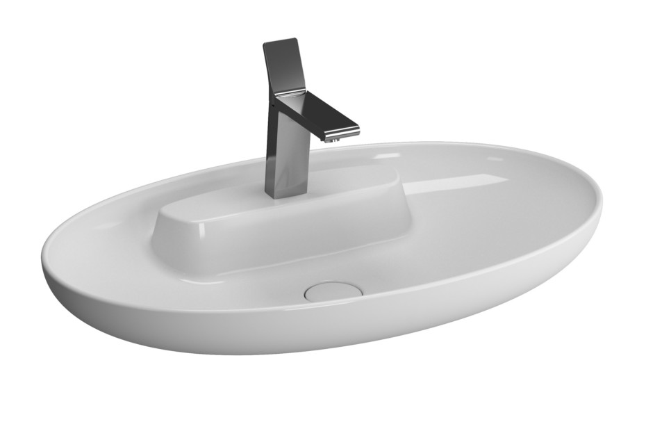 Memoria top frame washbasin
