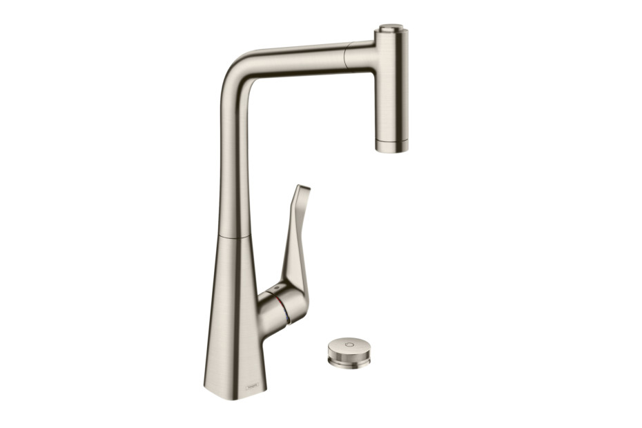 Metris Select single lever kitchen mixer with pull-out spout