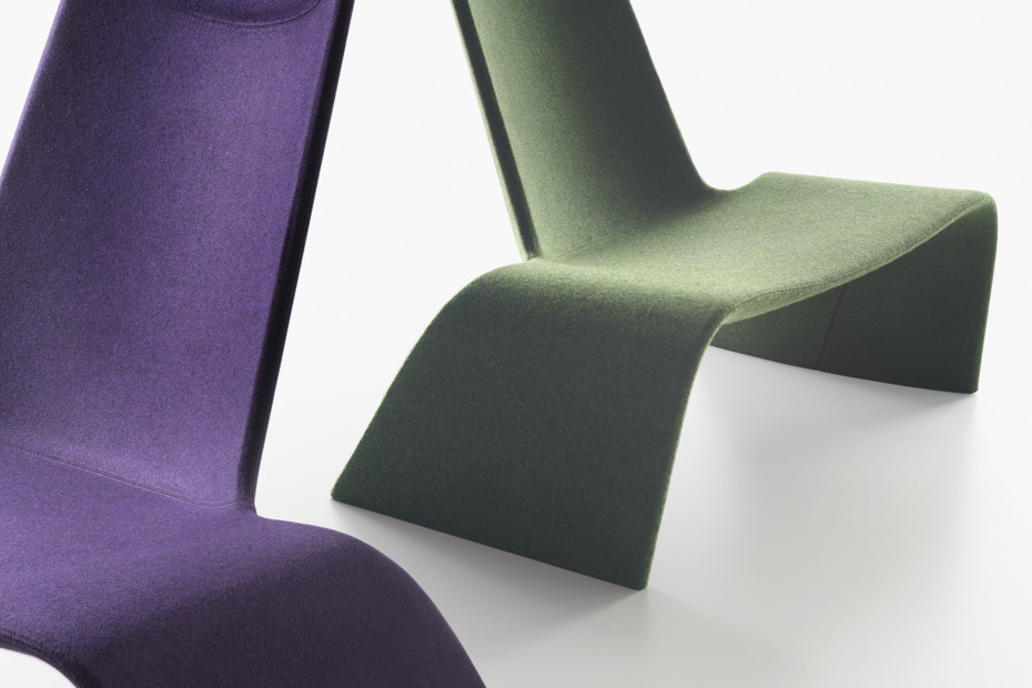 Land lounge chair upholstered