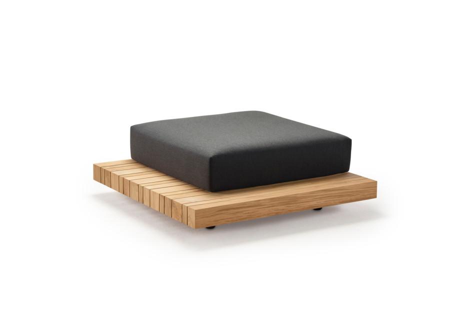 Plateau L-module footstool + corner table