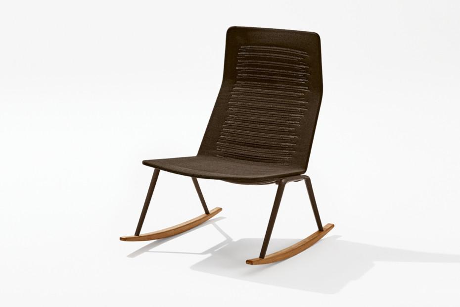 Zebra Knit Lounge-Schaukelsessel