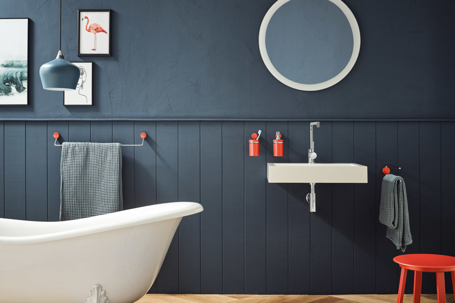 Bath towel rail C to C 600 mm, finish - chrome
