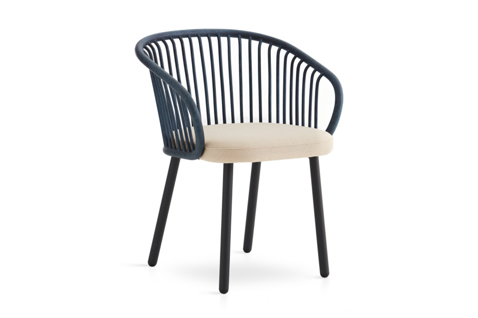 Huma dining armchair with metal legs T070 M