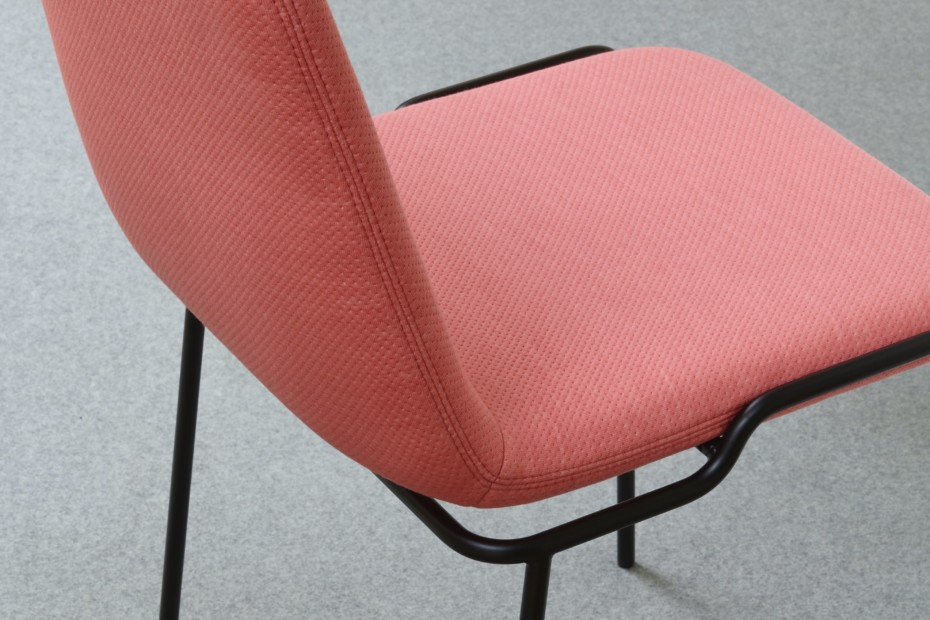 TADAO chair with metal legs