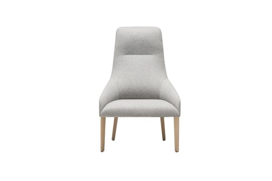 Alya lounge chair 4-legged wood base