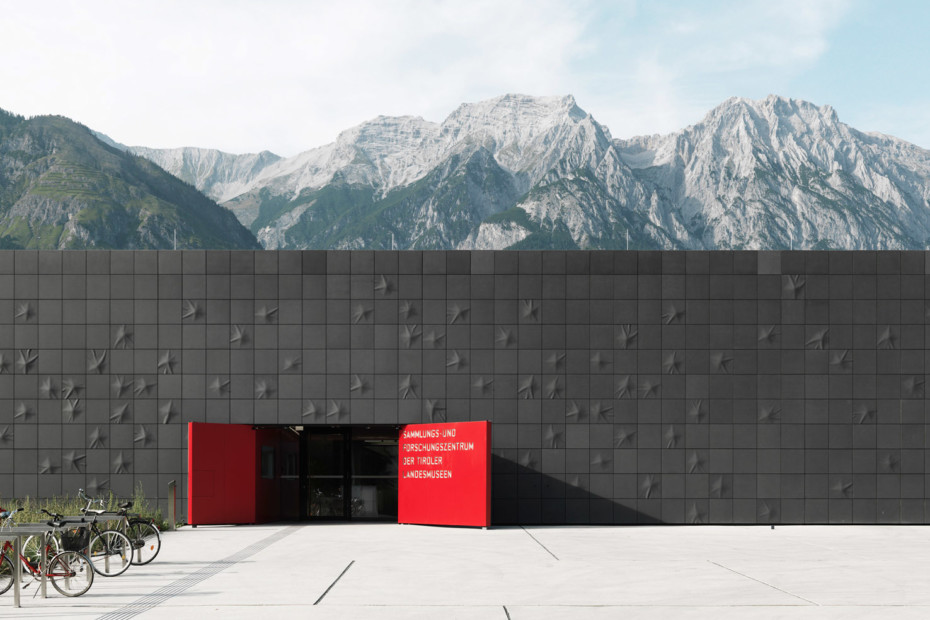 concrete skin, Research and Collections Center Tirol