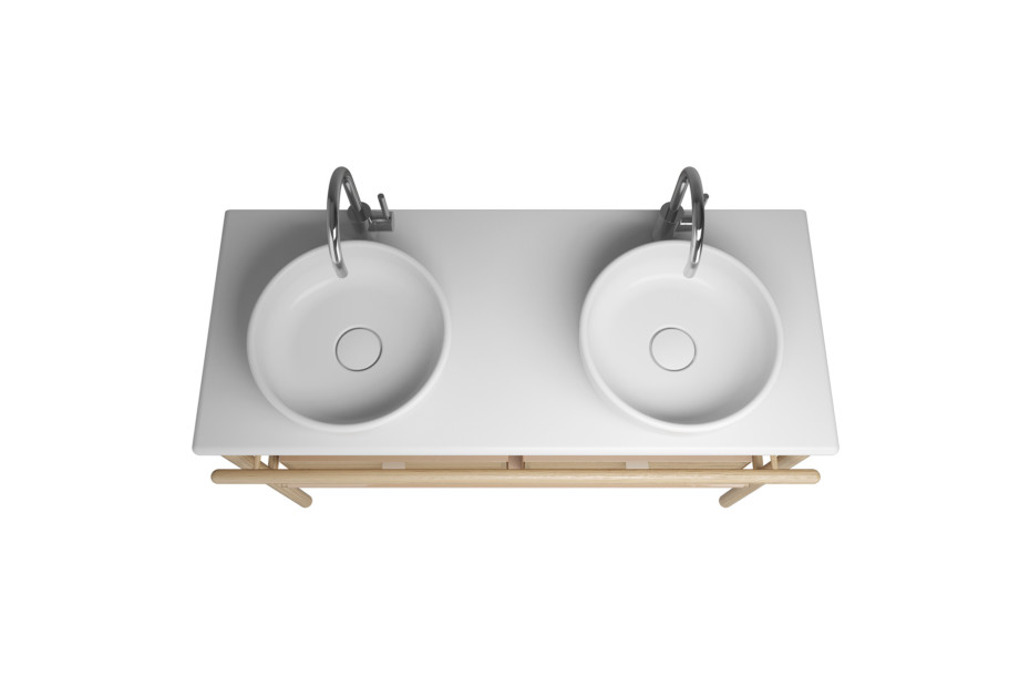 Mya Keramik-Aufsatzwaschtische mit Waschtischunterschrank und 2 Schubladen