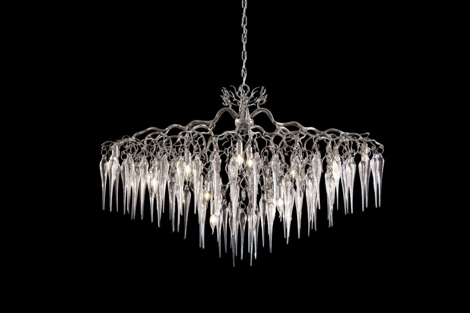 Hollywood Chandelier Glass oval